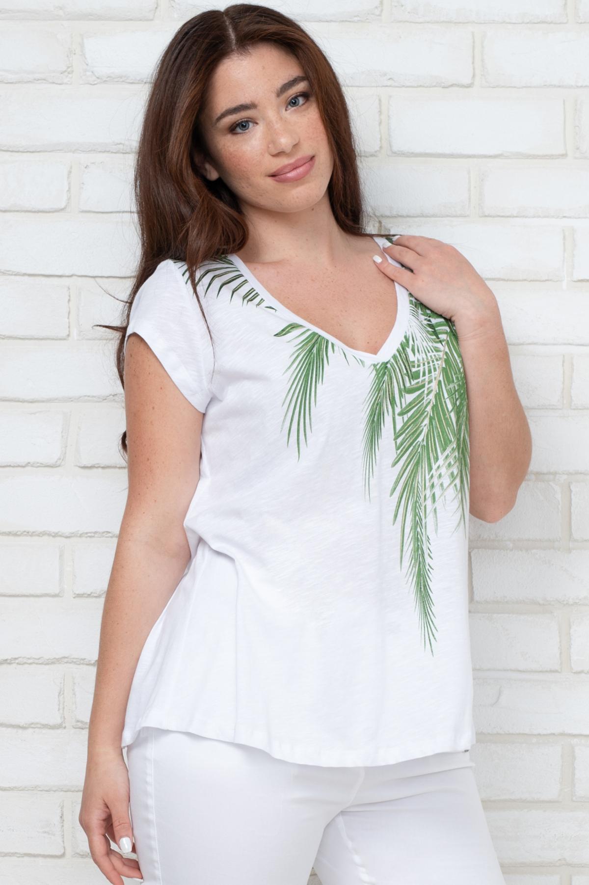 0e8b338592f ΜΠΛΟΥΖΑ ΜΕ ΚΟΝΤΟ ΜΑΝΙΚΙ - Real Lady - Shop Online